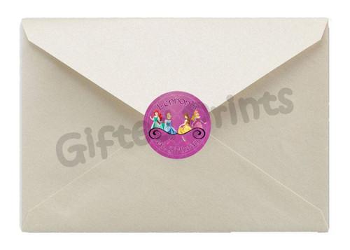 Disney Princess Pampering Party Envelope Seals