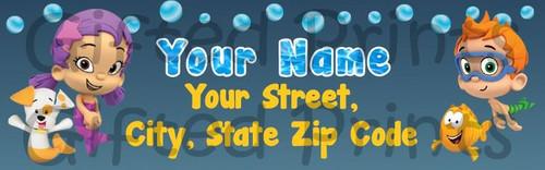 Bubble Guppy Return Address Labels