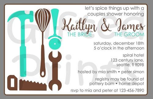 Tool & Kitchen Couples Bridal Shower Invitation
