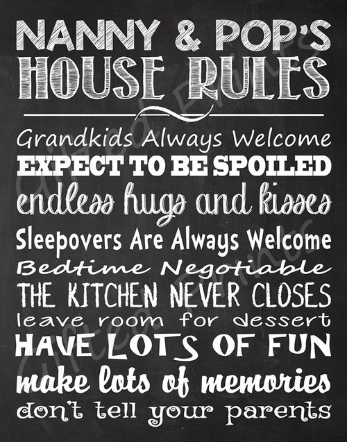 Grandparents Rules Print