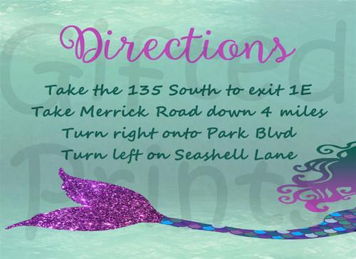 Mermaid Invitation Insert 1