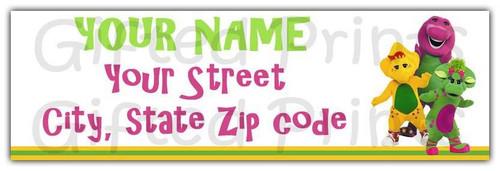 Barney Return Address Labels