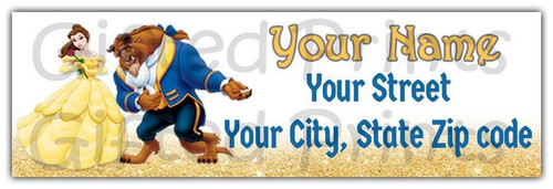 Beauty and the Beast Return Address Labels