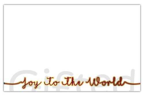 Joy To The World Holiday Envelope