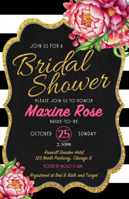 Kate Spade Bridal Shower Invitation 1