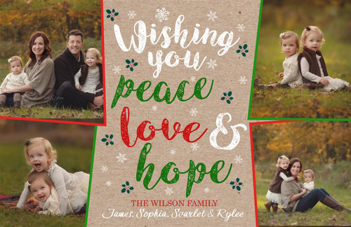 Peace Love & Hope Holiday Card