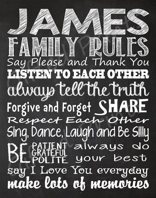 Family Rules Print