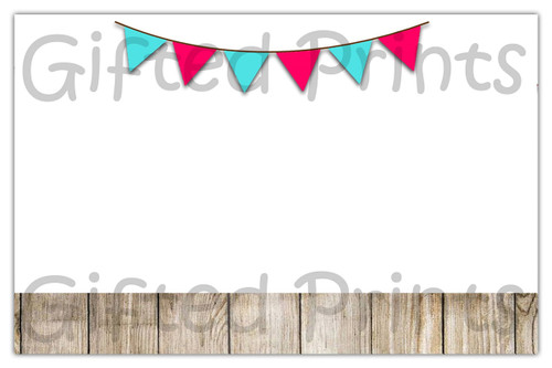 Bows or Bowties Envelope Wood Background