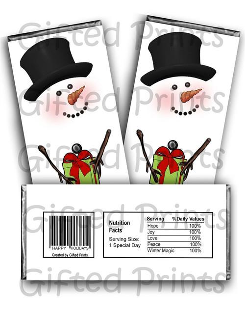 Snowman Chocolate Wrapper