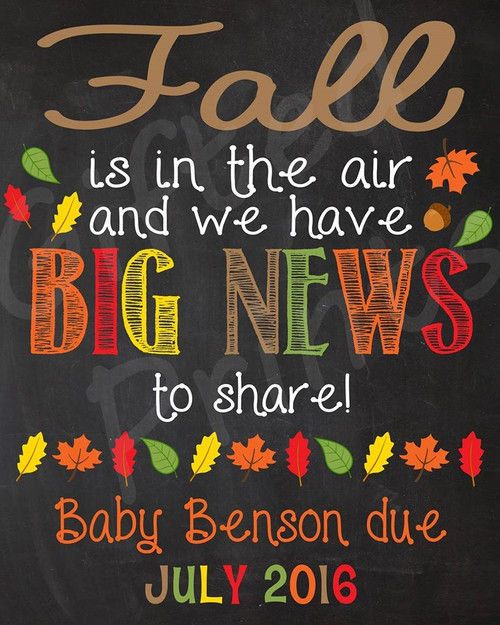 Pregnancy Announcement, Fall-Themed