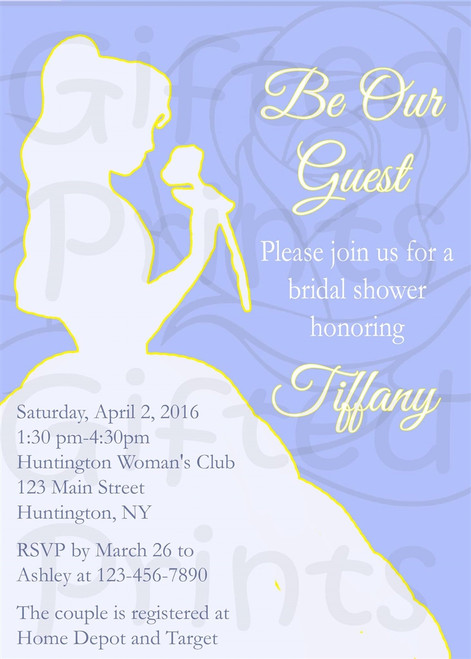 Beauty and the Beast Bridal Shower Invitation