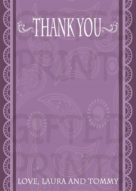 Lace Bridal Shower Thank You Card