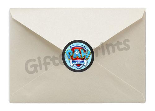 Paw Patrol Envelope Seals