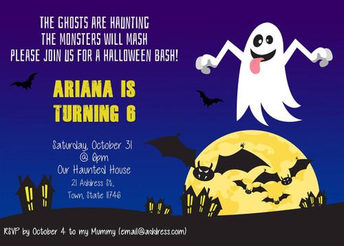 Halloween Birthday Invitation 2