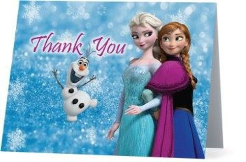 Folded Frozen Thank You Card