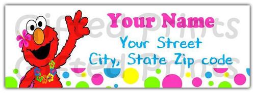 Elmo Luau Return Address Labels