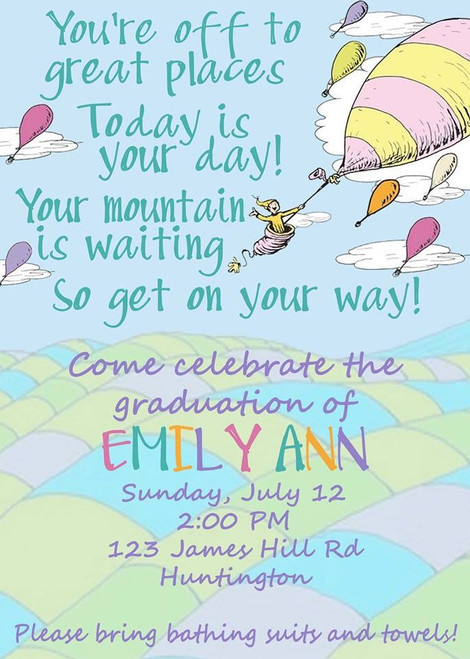 Balloon Graduation Invitation