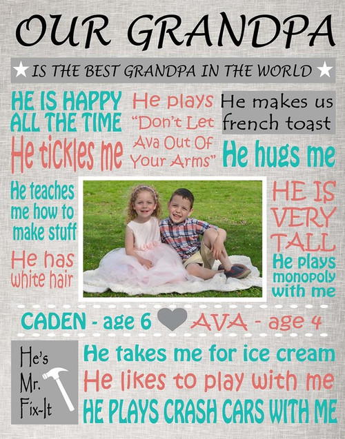 Grandpa Word Collage Print