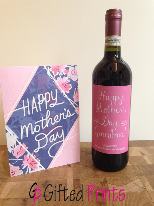 Mother's Day Wine Label