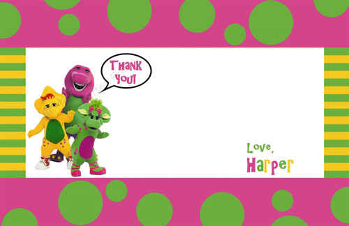 Barney Thank You Card