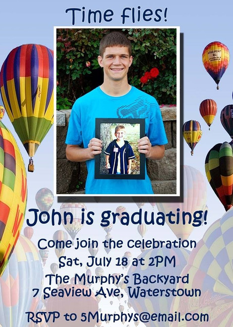 Hot Air Balloon Graduation Invitation