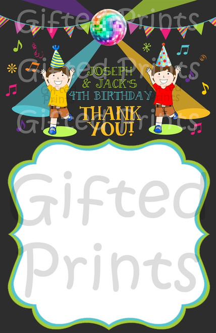 Dance Party Thank You Card