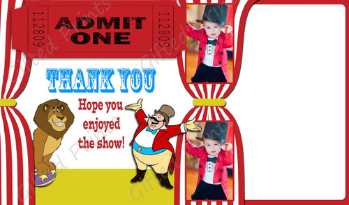 Circus Thank You Card With Picture