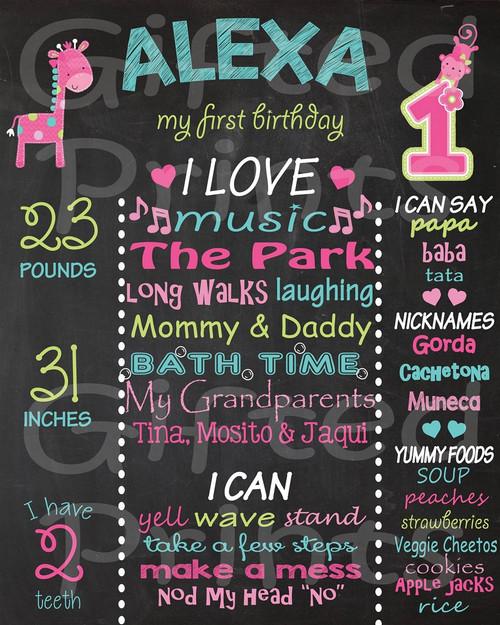 Fun To Be One Birthday Chalkboard