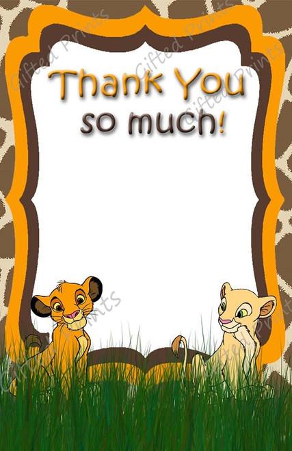 Simba Lion King Thank You Card 1