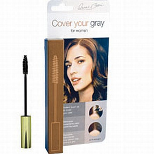 COVER YOUR GRAY BRUSH-IN WAND  Mascara type applicator is perfect cover-up for: • sideburns • scattered gray hairs throughout the head • longer hair (when longer strokes are required) • Goes On Smooth / Brush Through To Even Out Tones • No Water Needed / Will Not Mat Or Clump • Lasts All Day / Washes Out With Shampoo • Go Longer Between Hair Colorings