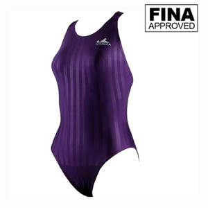 Yingfa YF982-4 Purple Women's Lightning Shark-Skin Swimsuit - Fina Approved