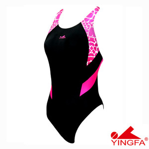 YINGFA 946-3 NEW E TANCHE TECHNICAL WOMEN'S SWIMSUIT - BLUE/PINK