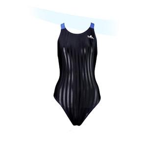 Yingfa YF980-2 Women's Lightning Shark-Skin Swimsuit - Black/Blue