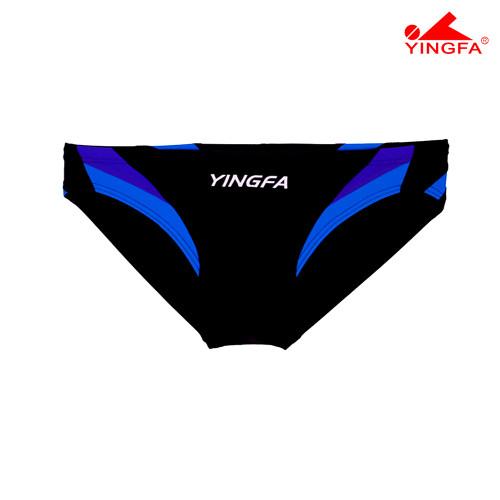 Yingfa 9462-2 Aquaskin Men's Briefs - Black/Blue/Skyblue