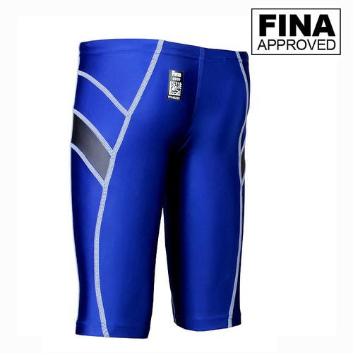 Yingfa 9402-5 Blue/Gray Lightning Arrow Sharkskin Men's Jammers -Fina Approved