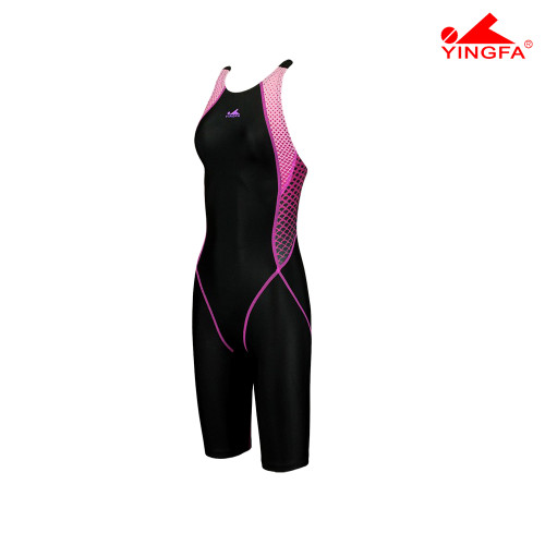 YINGFA YF943-2 NEW E TANCHE TECHNICAL WOMEN'S KNEE SUITS - BLACK/PINK