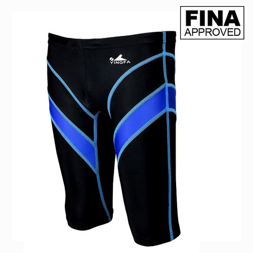 Yingfa 9402-1 Lightning Arrow Sharkskin Jammers -Fina Approved -Black/Blue