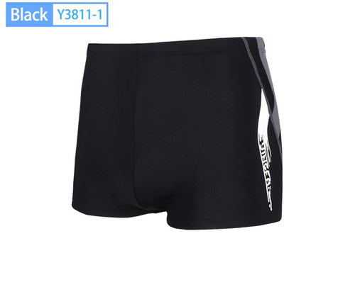 Men's Square Leg Brief -Black/Gray