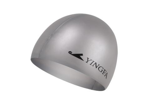 Silicone Swim Cap -Silver