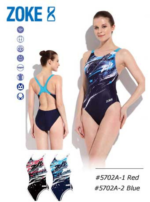 Zoke Stars Girl's One Piece Swim Suits