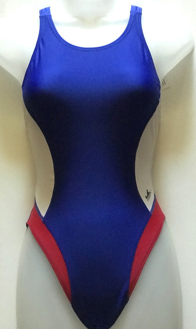 USA Aquaskin Costume Women's Swimsuits - Blue/White/Red