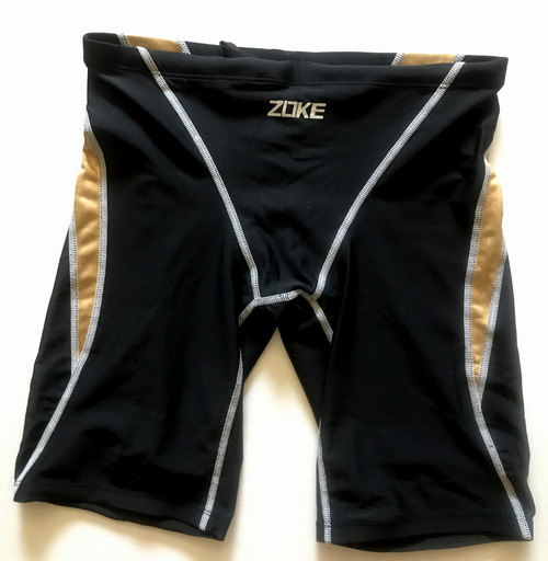 6977-1Men Swim Jammers - Black/Gold