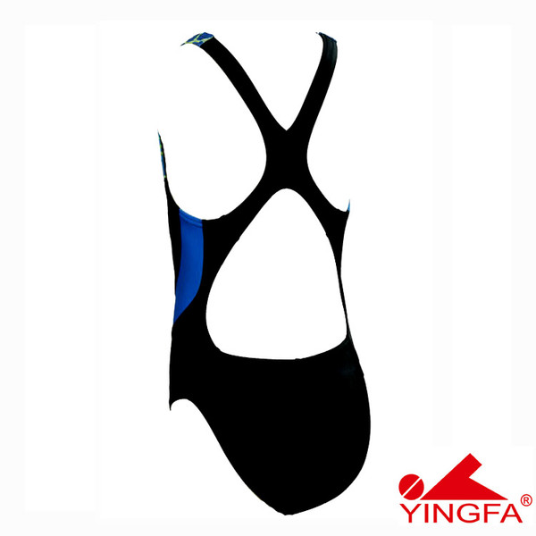 YINGFA 946-1 NEW E TANCHE TECHNICAL WOMEN'S SWIMSUIT - BLACK/BLUE