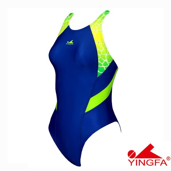 YINGFA 946-2 NEW E TANCHE TECHNICAL WOMEN'S SWIMSUIT - BLUE/GREEN