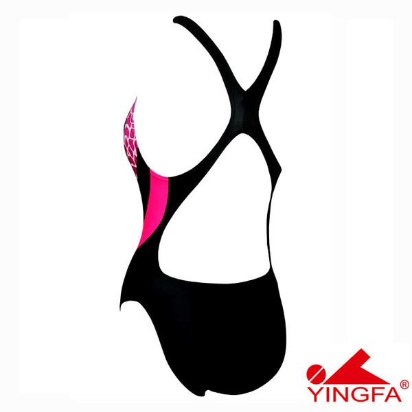 YINGFA 946-3 NEW E TANCHE TECHNICAL WOMEN'S SWIMSUIT - BLUE/PINK