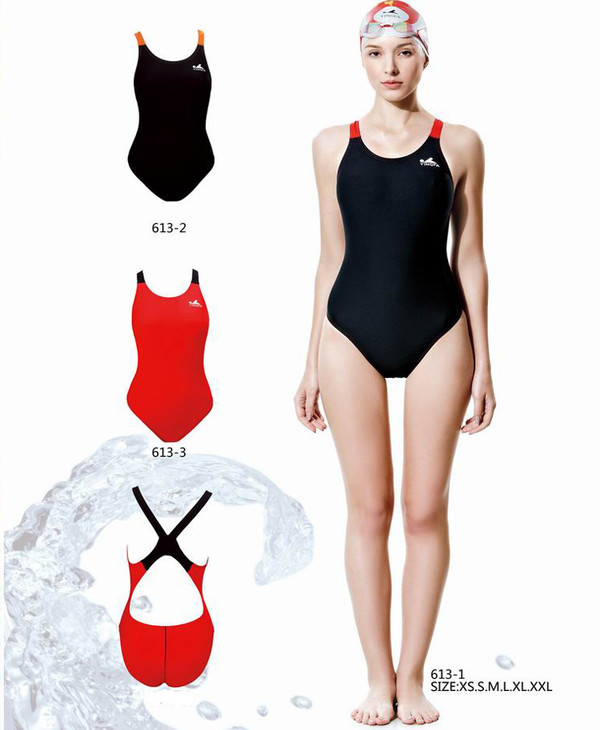 Yingfa YF613 Women's PBT Swimsuits - Black/Red