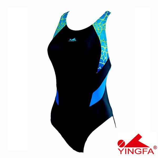 YINGFA 946-1 NEW E TANCHE TECHNICAL WOMEN'S SWIMSUIT - BLACK/BLUE