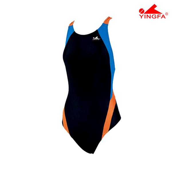 Yingfa 976-4 Aquaskin Costume Women's Swimsuits - Black/Blue/Orange