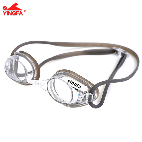 YINGFA Y570AF Anti-Fog Swimiming Goggle With UV Protection - Black/Clear