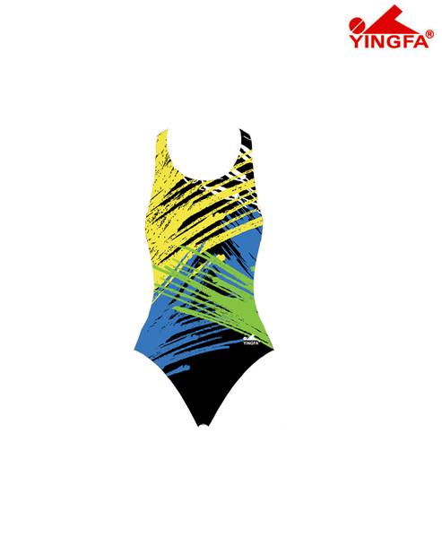 Yingfa 915-2 New Painted Raceskin Swimsuits - Yellow/Green/Black
